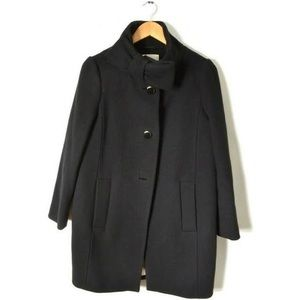 Black Kate Spade Peacoat with Bow Neck Closure